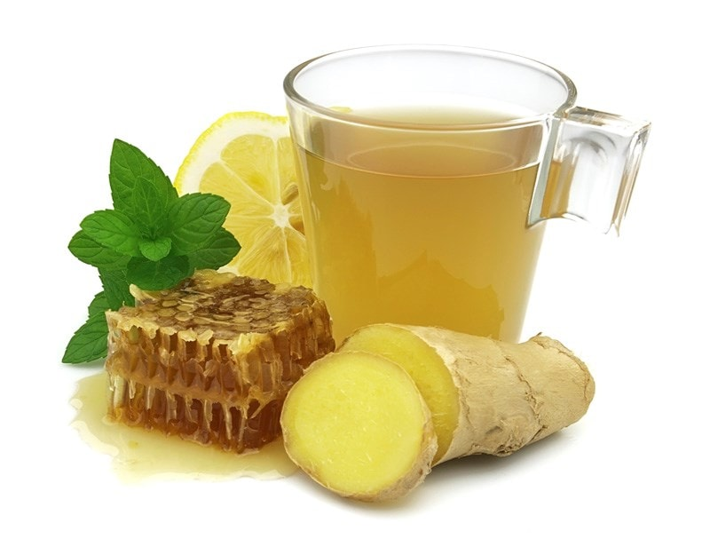 hot honey ginger lemon tea