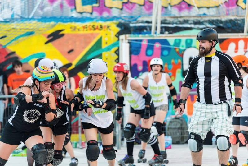 roller derby during a game